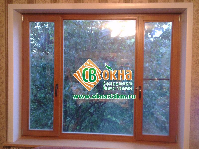 Окрашенное деревянное окно СВ-ОКНА