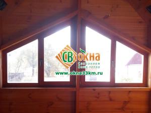 Деревянные окна нестандартной формы СВ-ОКНА