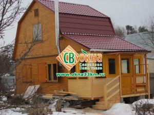 Деревянные окна СВ-ОКНА в загородном доме