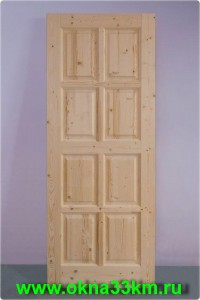 Деревянная дверь для дачи