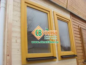 Деревянные окна крашенные СВ-ОКНА
