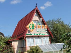Дачный дом остеклённый СВ-ОКНА