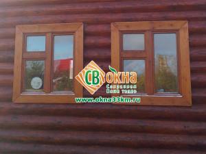 Деревянные окна СВ-ОКНА в частном доме