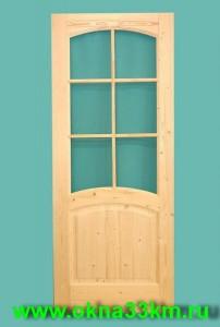 Дверь деревянная под стекло
